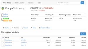 coinmarketcap flappycoins 300x169 - Bitcoins, Altcoins, Kryptowährung - Wie kommen zu sowas? Der Einstig