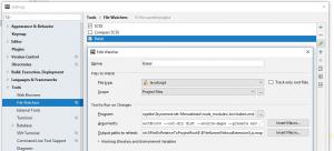 phpstorm babel filewatcher 300x136 - Babel Javascript Compiler unter PhpStorm verwenden.