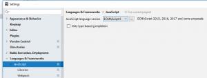 phpstorm ecmascript auswahl 300x113 - Babel Javascript Compiler unter PhpStorm verwenden.